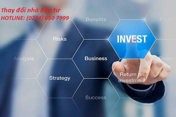 Thay đổi nhà đầu tư