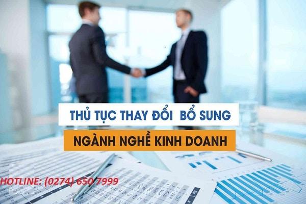 Bổ sung ngành nghề thương mại