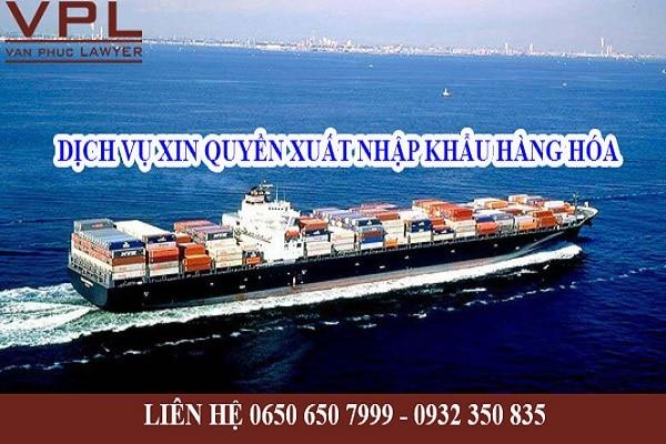 Xin cấp phép để thực hiện quyền xuất khẩu, nhập khẩu và phân phối bán buôn
