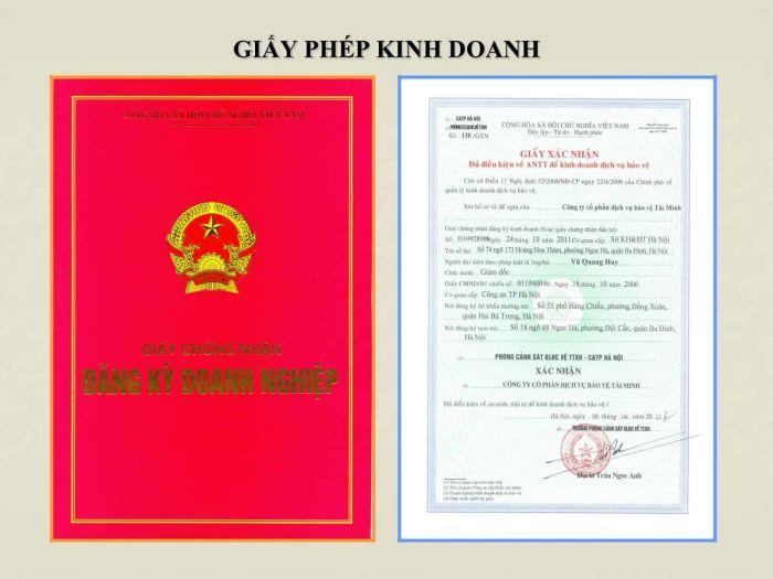 giấy phép kinh doanh