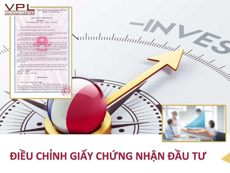 thay đổi thông tin trên giấy chứng nhận đầu tư